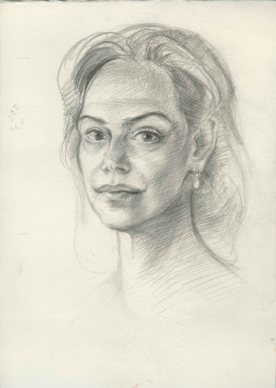 ,, Study for portrait of Dagmar Havlová""