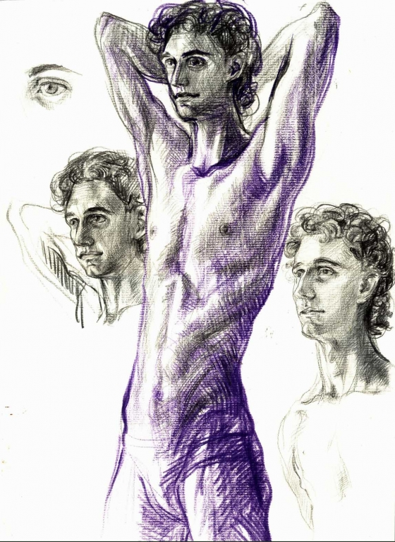 ,,Study of young man""