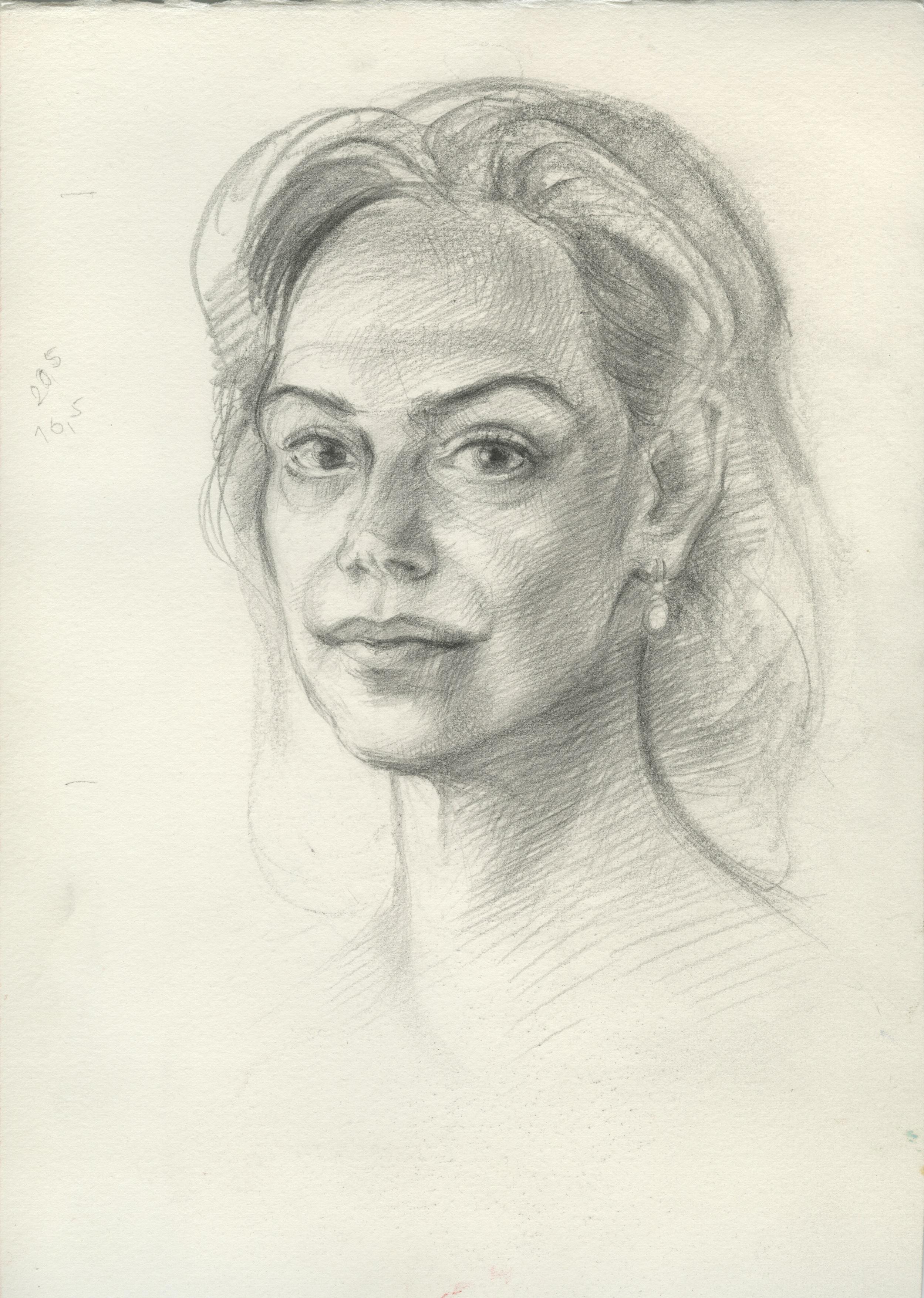 """,,Studie pro portrét Dagmar Havlové"""""""